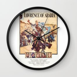 Vintage Classic Movie Posters, Lawrence of Arabia Wall Clock