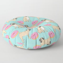 Pug lover food dog breed gifts pure breed pugs donuts doughnuts Floor Pillow
