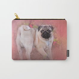 Pug In The Garden Carry-All Pouch