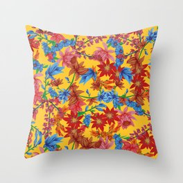 Amelia, Yellow Throw Pillow