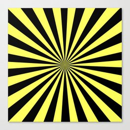 Starburst (Black & Yellow Pattern) Canvas Print