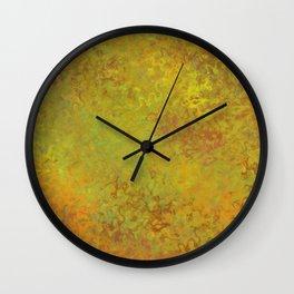 Liquid Hues Fluid Art Digital Illustration, Digital Watercolor Artwork Wall Clock