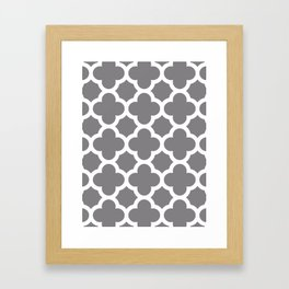 Gray Quatrefoil Framed Art Print