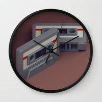 cassette Wall Clocks featuring Cassette by Michiel van den Berg