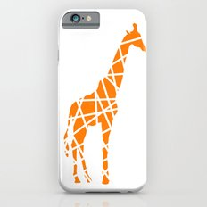 Modern Orange Giraffe Slim Case iPhone 6s