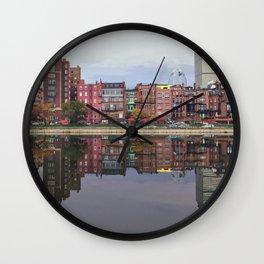 Pink Reflections Wall Clock