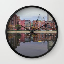 Pink Reflections Wall Clock