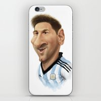 messi iPhone & iPod Skins featuring Messi - Argentina by Sant Toscanni