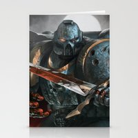 warhammer Stationery Cards featuring Warhammer Soldier by Tom Lee