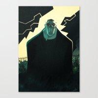 frankenstein Canvas Prints featuring Frankenstein by Annalisa Leoni