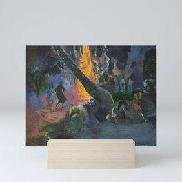 Upa Upa (The Fire Dance) by Paul Gauguin Mini Art Print