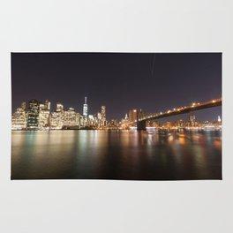 Manhattan Lights including Brooklyn Bridge, One World Trade Rug