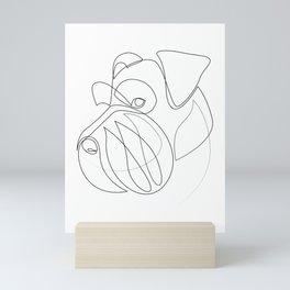 Mittelschnauzer - one line drawing Mini Art Print