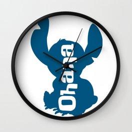 Stitch - Ohana Wall Clock