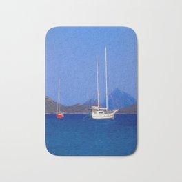 Sailing Ship Art Bath Mat
