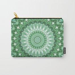 Emerald Green Mandala Carry-All Pouch