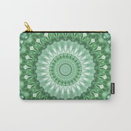 Emerald Green Mandala Carry-All Pouch