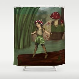 Toadstool Fairy Shower Curtain