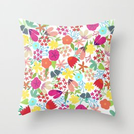 Wildflower Pattern Throw Pillow