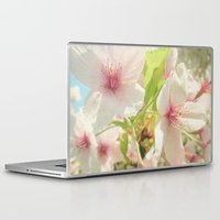 cherry blossom Laptop & iPad Skins featuring Cherry Blossom by Cassia Beck