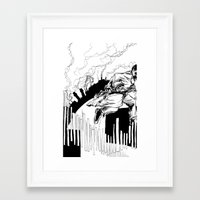 maze runner Framed Art Prints featuring Runner by Michael Tuck