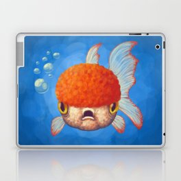 Grumpy Goldfish Laptop & iPad Skin