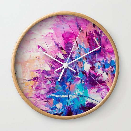 Paradise Bush Wall Clock
