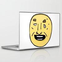 donnie darko Laptop & iPad Skins featuring Drunken Donnie by crapAdoodle