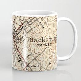 Vintage Map of Blacksburg Virginia (1932) Coffee Mug