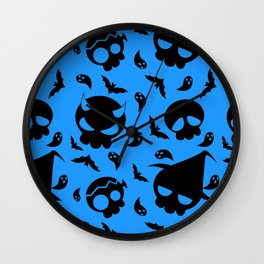 Skulls Pattern Wall Clock