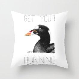 Get Your Scoter Running (Surf Scoter) Throw Pillow