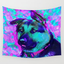 Artistic Dog Expression Wall Tapestry