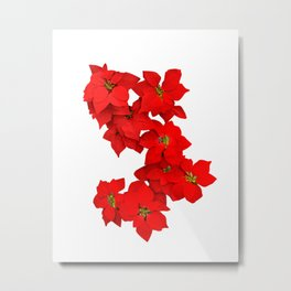 Red Flowers Blossom Metal Print