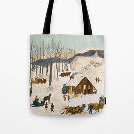 Anna Mary Robertson 'Grandma' Moses Sugaring Off American Folk Art Tote Bag