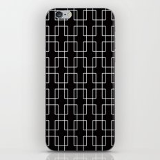 White outline rectangles on black iPhone & iPod Skin
