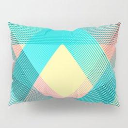 Blue pink Geometric triangle pattern Pillow Sham