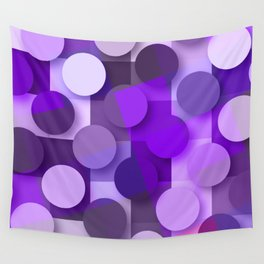 squares & dots violet Wall Tapestry