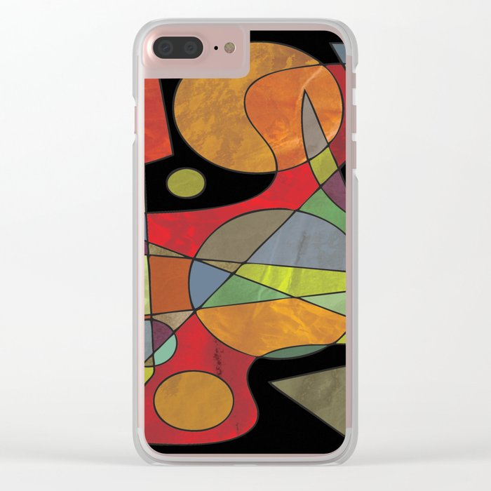 Abstract #304 Clear iPhone Case