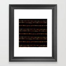 Barbed wire Framed Art Print