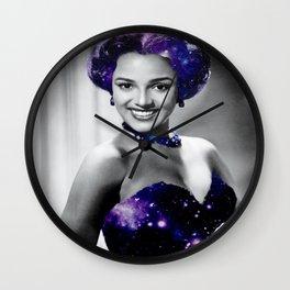 Dorothy Dandridge Purple Galaxy Wall Clock