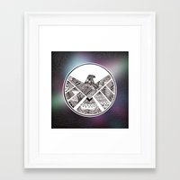 shield Framed Art Prints featuring SHIELD by Ruth Ms