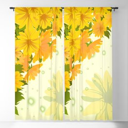 Floral background Blackout Curtain