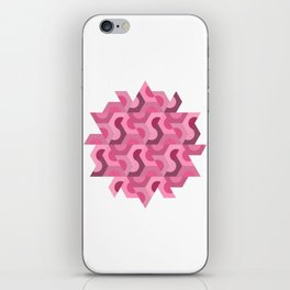 Abstract Half Hex - Pink iPhone Skin