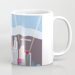 Los Angeles, California - Skyline Illustration by Loose Petals Coffee Mug