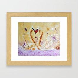 A Little Kiss   Un petit bec Framed Art Print