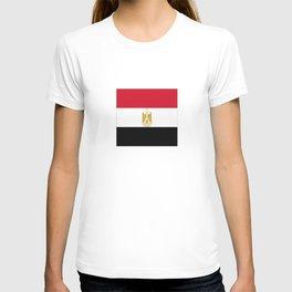 flag of egypt- Egyptian,nile,pyramid,pharaon,cleopatra,moses,cairo,alexandria. T-shirt
