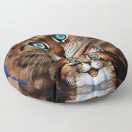 """Mother and Child"" by Louis Wain Floor Pillow"