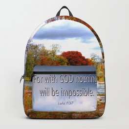Luke 1:37 Backpack