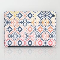 damask iPad Cases featuring Tropical Ikat Damask by micklyn