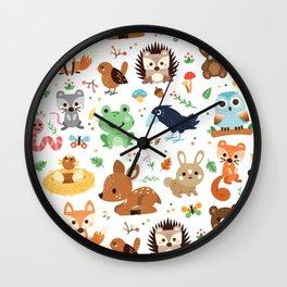Woodland Animal Wall Clock
